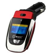 车小二 汽车电压显示 车载MP3播放器 点烟器式MP3 AUX 手机充电 无损音质 文件夹 标配版 +4GTF卡