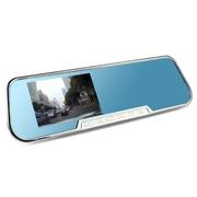 gebite 格比特 行车记录仪高清广角夜视 G820 后视镜 4.3寸屏 官方标配(无卡)