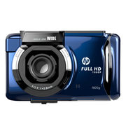惠普 F800G 1080p高清夜视行车记录仪140°广角 金属蓝 标配不带卡