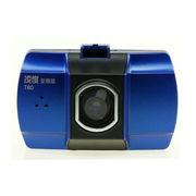 凯旭 行车记录仪 高清1080P驾车录像 140度广角行驶监控仪 T80蓝色配8G专用高速卡