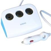 奥舒尔 OZIO E-DX24车载一分三插座带双USB车载充电器