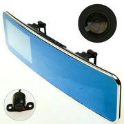 凯旭 一录安 158大广角+120度倒车双夜视摄像头 4.3寸后视镜液晶曲面大视野蓝镜行驶记录仪 S50 Plus配8G专用高速卡