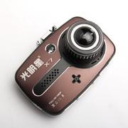 光明星 x7高档行车记录仪超强夜视王高清真1080P 超广角鱼眼大镜头 X7咖啡色标配+64G