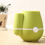 raiing 伊品堂USB花瓶加湿器 可插花 超静音 办公室好伙伴 青草绿
