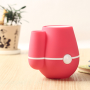 raiing 伊品堂USB花瓶加湿器 可插花 超静音 办公室好伙伴 玫红