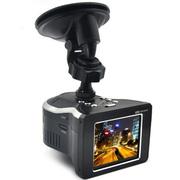 果珈 行车记录仪一体机 高清夜视广角 多功能 黑色