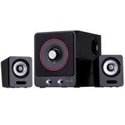 傲顿 台式电脑音响多媒体木质低音炮大功率音箱2.1 黑色