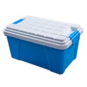 友泰 汽车储物箱 二室一厅后备箱整理箱置物箱车载杂物盒 汽车收纳箱后备箱 海洋蓝