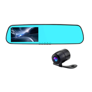 Dora 达乐 8502后视镜行车记录仪 执法仪 前后镜头同时录制 超清广角夜视 全超清1080P 双镜头超清版+32G卡