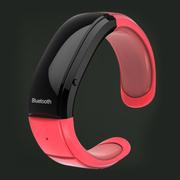 台硕 W100S 智能设备 时尚蓝牙手环 通话手镯 防丢失防辐射 安卓手机苹果三星通用 玫瑰红色