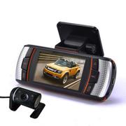 途美 G7汽车行车记录仪前后镜头双广角高清1080P超强夜视车载迷你 双镜头黑色标配+8G高速卡