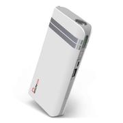 叛逆者(panizhe) 移动电源11000mAh手机平板通用智能充电宝 带强光手电防尘盖 时尚银 标配+3合1线+1A充电头