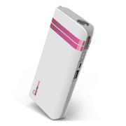 叛逆者(panizhe) 移动电源11000mAh手机平板通用智能充电宝 带强光手电防尘盖 玫瑰红 标配+3合1线+双U口2A充头