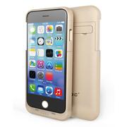 CRDC iPhone6背夹电池苹果6移动电源 手机无线充电宝 适用于iPhone6英寸 5.5英寸 4000毫安 金色