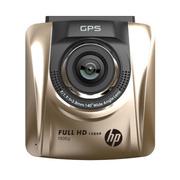 惠普 /F320 车载行车记录仪测速一体机高清1080p迷你夜视电子狗 F500G香槟金 标配无卡
