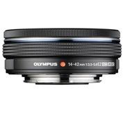 奥林巴斯 M.ZUIKO DIGITAL ED 14-42mm F3.5-5.6 EZ 黑色 电动饼干变焦镜头