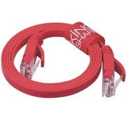 金胜 超六类千兆超扁网线 红色(1米) (KS-CRJR1)