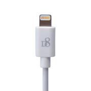 D8 苹果认证iPhone6数据线Lightning to USB充电线 数据连接线 1米 白色