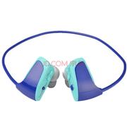 YEMEKE mp3播放器 运动型耳机mp3 双耳MP3 跑步耳机 无线头戴mp3 海洋蓝
