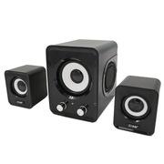 沐阳 MYK10升级版 2.1声道音响 双振膜多媒体笔记本电脑音箱 黑色