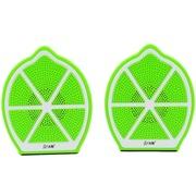 沐阳 MYG105柠檬 2.0声道音响 USB笔记本电脑音箱 绿色