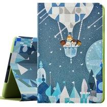 MATE 苹果iPad Air2保护套/保护壳 多位支撑 时尚iPad6皮套带休眠 彩绘系列 魔力热气球产品图片主图