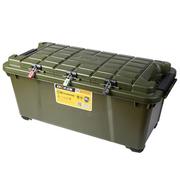 亿高 汽车收纳箱 后备箱储物箱车用 整理箱 置物箱车载 塑料工具箱子EK-886 战地绿
