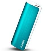台电 移动电源充电宝 T100J-B 锌合金拉丝外壳 10000毫安 超舒适握感 湖水蓝
