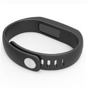 YEMEKE 智能手环 可穿戴设备 APP运动计步器 睡眠健康管理运动手环 经典黑
