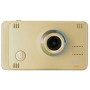 索爱 A5智能行车记录仪 超高清1080P广角夜视 GPS 防碰瓷 金色+16G卡+1年延保 标准