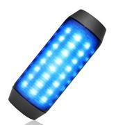 爱玛科 A828炫彩LED音箱 音响 蓝牙音箱 蓝牙音响 无线音箱 低音炮 NFC配对 黑色