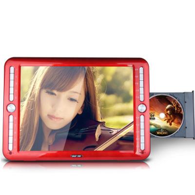 先科 SAST/ 21寸看戏机唱戏机移动DVD高清视频播放器 电视 移动EVD光盘播放机 红色 标配+8G卡(带下载目录)产品图片1
