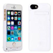 现代演绎 D5A 2200毫安 苹果iPhone5 5S专用充电宝手机壳 背夹电池 白色