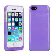 现代演绎 D5A 2200毫安 苹果iPhone5 5S专用充电宝手机壳 背夹电池 紫色