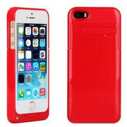 现代演绎 D5A 2200毫安 苹果iPhone5 5S专用充电宝手机壳 背夹电池 红色