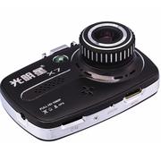 光明星 X7 X7s行车记录仪 高清夜视1080P 超广角 黑色 X7s标配无卡
