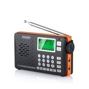 德劲 DE29 调频中波短波数字调谐全波段 收音音响 MP3 数码录音收音机 黑色 标配