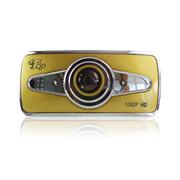 季风岛 车载Q7土豪金行车记录仪 140°夜视高清广角 1080P循环录影 1200万像素
