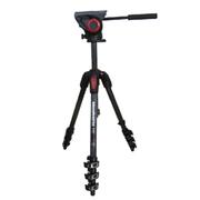 曼富图 MT190CXPRO4CN+MVH500AH摄像摄影三脚架云台套装