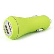 先科 车载充电器  双USB智能充电带电瓶电压检测车载电源 点烟器usb车充 T18 2.1A 单usb银色