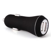 先科 车载充电器  双USB智能充电带电瓶电压检测车载电源 点烟器usb车充 T18 2.1A 单usb红色