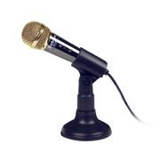 豹勒 PC-608话筒 全金属台式笔记本电脑麦克风 电容式带架 录音 网络语音K歌话筒套装 金色-金属版