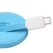 驰尚 驰尚 Micro USB接口面条式手机充电三星 小米 联想 诺基亚 华为 中兴手机数据线 蓝线 一米