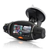廘途 双镜头夜视行车记录仪 2.7寸屏 带GPS定位和重力感应 防碰瓷