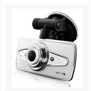 果珈 Q8 鱼眼行车记录仪 超高清1080P最大广角夜视 珍珠白