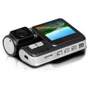 果珈 K01汽车行车记录仪双镜头 1080P夜视广角车载迷你超高清1200万 高清至尊版 双镜头32G