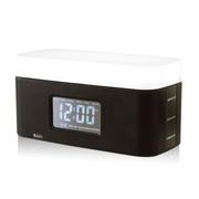 倍加乐 HL2501日出无线蓝牙音箱显示屏时钟显示亮度调节智能充电 黑色