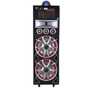 双诺 HJ-105专业舞台演出音响 大功率双15寸 户外广场 有源DVD声控彩色电瓶音箱