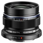奥林巴斯 M.ZUIKO DIGITAL ED 12mm f2.0 黑色 广角定焦抓拍镜头 全金属精湛做工