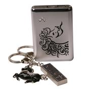 梵圣 奢侈品牌 聚合物充电宝6000毫安移动电源10000毫安通用u盘套装企业定制商务礼品 16G-2.0